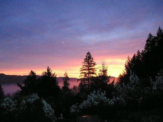 Alexander Valley Lodge : view of sunrise