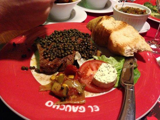 Steak-House El Gaucho: 300g Pfeffersteak