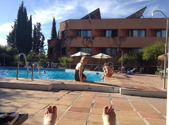 Chilling at the pool, Hotel Alixares, Granada
