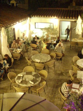 Auberge des Lices: Our evening dining spot - great restaurant (from our room)