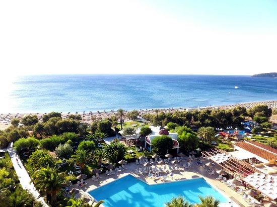 Pegasos Beach Hotel: Blick auf den Faliraki Beach