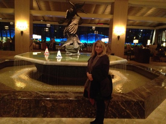 The Ritz-Carlton, Chicago: My beautiful wife in the Ritz lobby