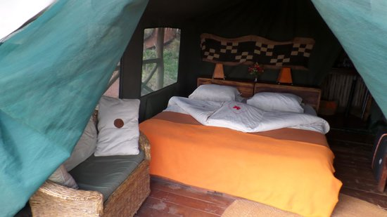 Rhotia Valley Tented Lodge : de superluxe tent met heerlijk bed