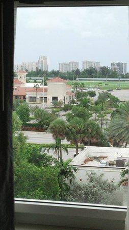 Hampton Inn Hallandale Beach/Aventura : Vista para a US-1 que vai ao Miami Beach ao norte.