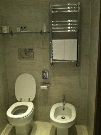 Hotel Firenze e Continentale La Spezia : Partial view of bathroom at Hotel Firenze e Continentale, La Spezia