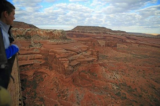 Canyonlands Ballooning : View from gondola over Canyonlands, near Moab.