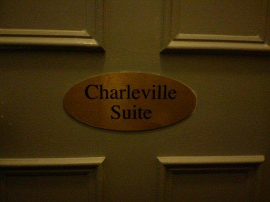 Charleville Lodge: Porta della suite