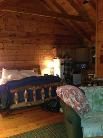 Dancing Bear Lodge: Inside of deluxe cabin
