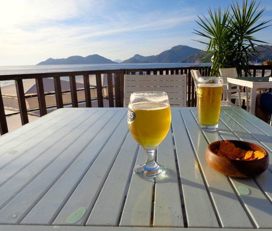 Liberty Hotels Lykia: Beers at the Village beach bar