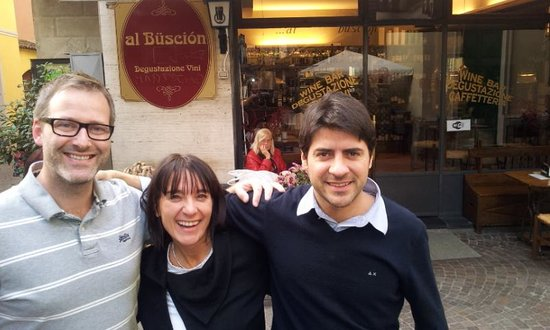 AL Buscion : Massimo and his nice sister with our excellent travel agent Stig at firmatur,no