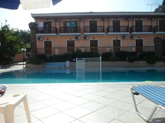 Lazaros Hotel Apartments: From poolside looking at our side of the complex