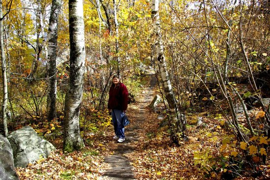 Rib Mountain State Park : Gramma on the trail