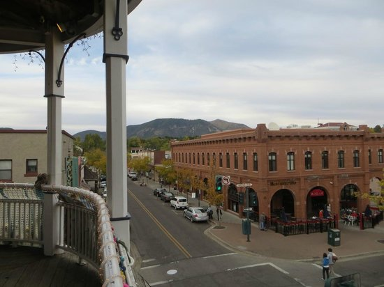 Weatherford Hotel: View from outdoor balcony off the Zane Grey bar.  Happy Hour