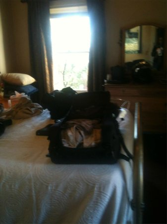 Weatherford Hotel: Room 53 - sorry so messy - traveling by motorcycle so have to bring up all luggage.