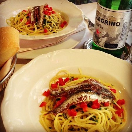 Ristorante Terrazza Barchetta : This sardine pasta was only 11 Euros and they split it for us