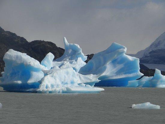 "Hotel Rio Serrano: Parte de un Glaciar,a orillas del Lago Grey....Hermoso"""
