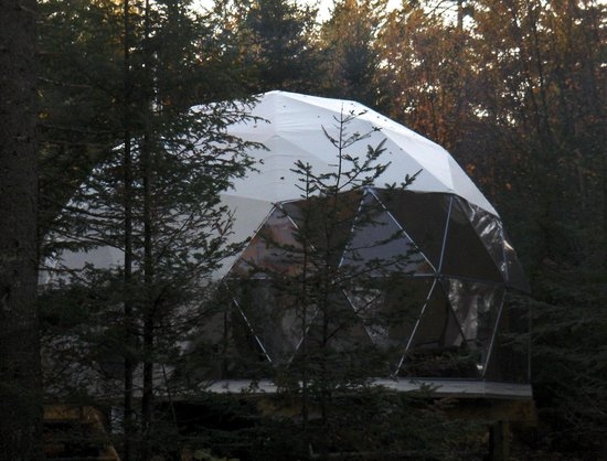Ridgeback Lodge: Large windows bring nature to you! Including the moon & the stars!