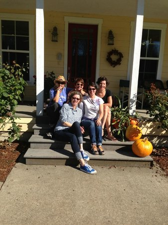 The Inn At Crippen Creek Farm : girls hanging on the front porch sad to leave!