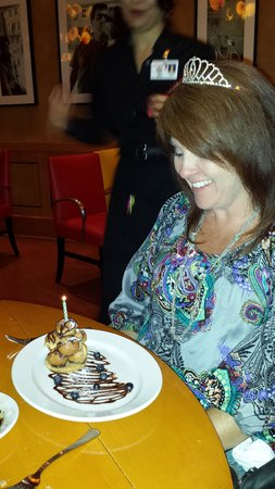 Pechanga Resort and Casino: birthday dessert at the Italian Restaurant