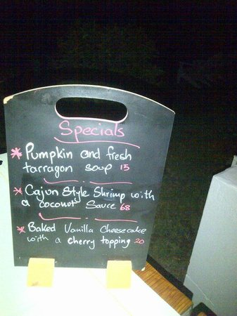 Bogles Round House: interesting presentation of the evening's specials