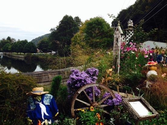 Lake Lure Flowering Bridge October Decorations
