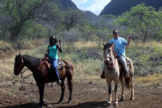 Lahaina Stables: Two Happy Customers