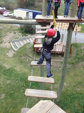 Adventura Aerial Adventure Park : My brave little guy <3