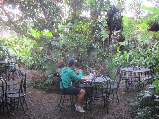Hotel Aranjuez : outdoor dining area
