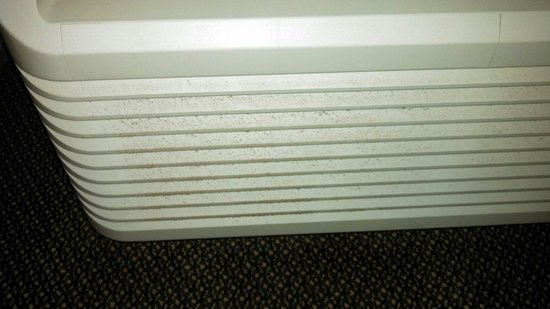 University Inn & Suites : Does housekeeping dust? Air/heating unit inside the room.
