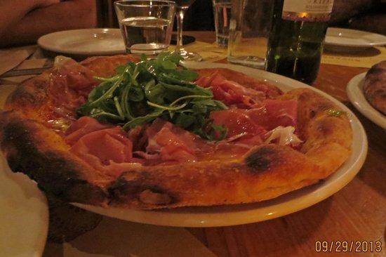 Osteria Mozza: Proscuitto pizza