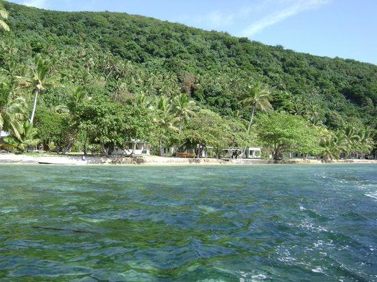 Mai Dive - Astrolabe Reef Resort: The resort from the water