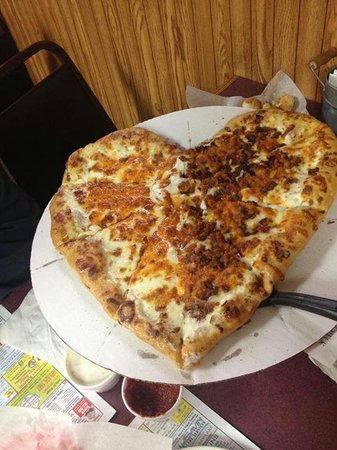 My husband and I had Mio Pizza on our anniversary. They made us this special pizza. GREAT place!