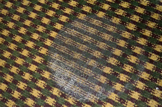 Vista Inn & Suites Airport East: burn on carpet