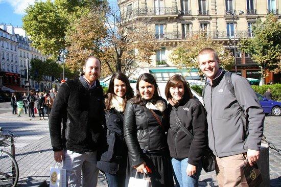 Hidden Paris Walking Tours : Our group with Eglantine, our guide
