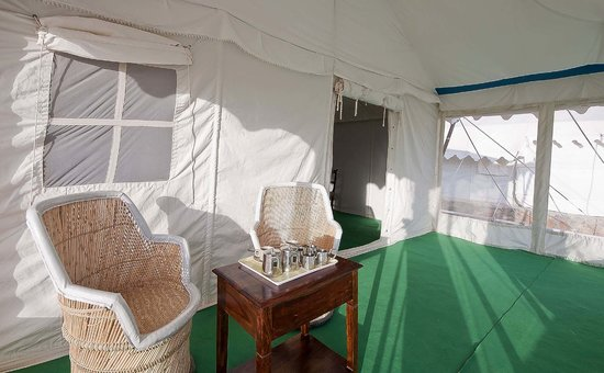 Samrat Resort : Balcony of tents