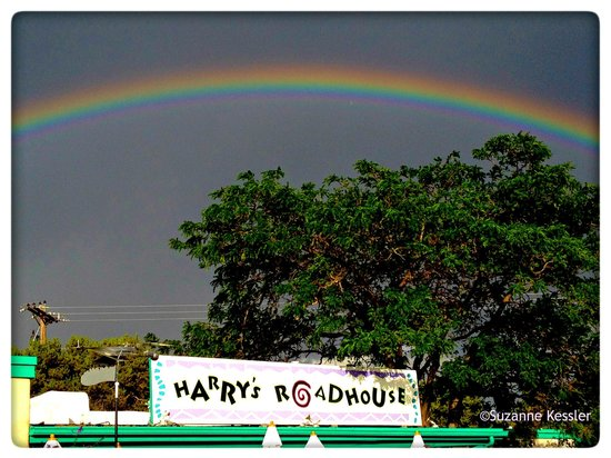 Harry's Roadhouse : One day a rainbow graced Harry's as I was driving by.