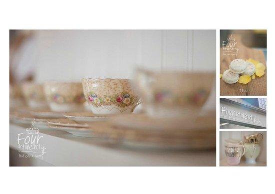 Four & Twenty: Our Granny's Tea cups on display