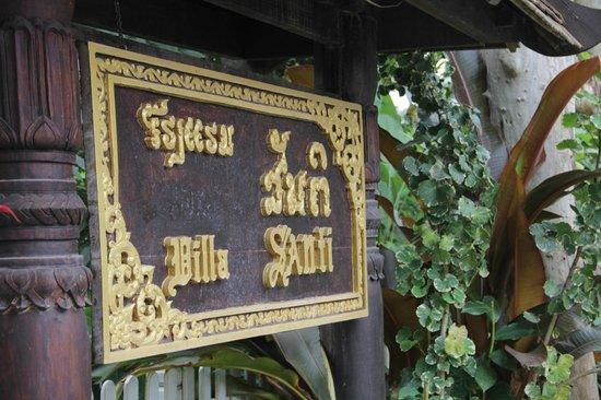 Villa Santi Hotel: Villa Santi sign