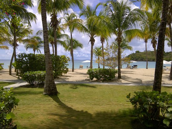 Carlisle Bay Antigua : View of beach from my room
