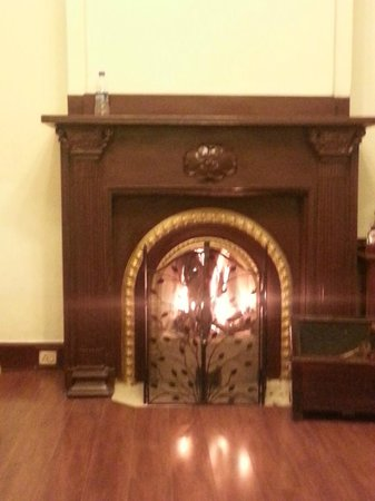Taj Savoy Hotel, Ooty : fireplace in the room