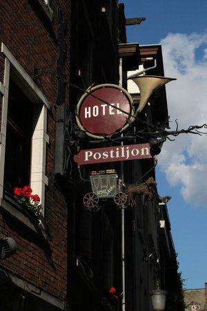 Postiljon: Вывеска гостницы