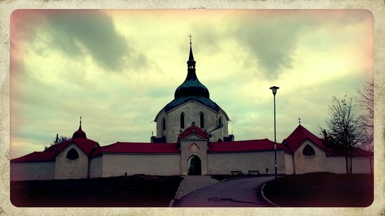Moravia, Tjekkiet: Santinis church from the outside