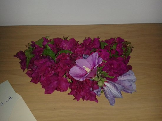 Lindos Blue Sky Studios and Apartments: Lovely fresh flower arrangement