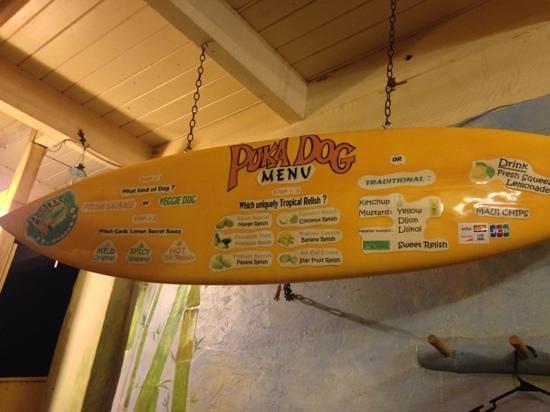 Puka Dog: menu--