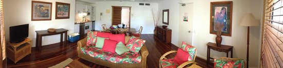 South Pacific Resort Noosa : Panoramic view of the lounge