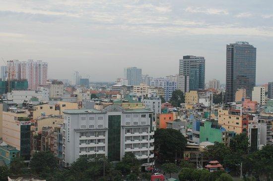 Le Duy Hotel: vue de la terrasse
