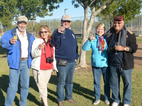 Fleur de Tucson Hot Air Balloon Rides: The champagne Brunch after the Flight