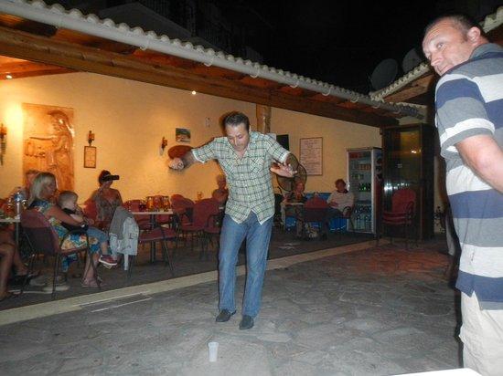 Maria Studios: Yiannis dancing BBQ night