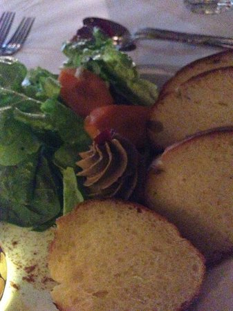 Village Cafe Restaurant & Bar : Rum flavored Chicken Liver Mousse Pate And home MAde Brioche
