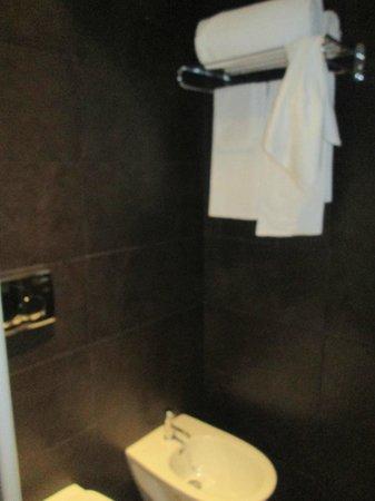 Hotel Alpi: salle de bains , manque de lumière